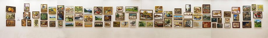 Панорама персональной выставки в Союзе Художников