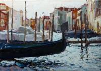 Бледные дали Венецианских зеркал, холст/масло, 50x70, 2012г.